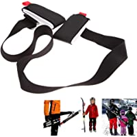 Amorus Porte Ski Dorsal, Bandoulière Réglable pour Pack Ski, Système de Transport de Skis