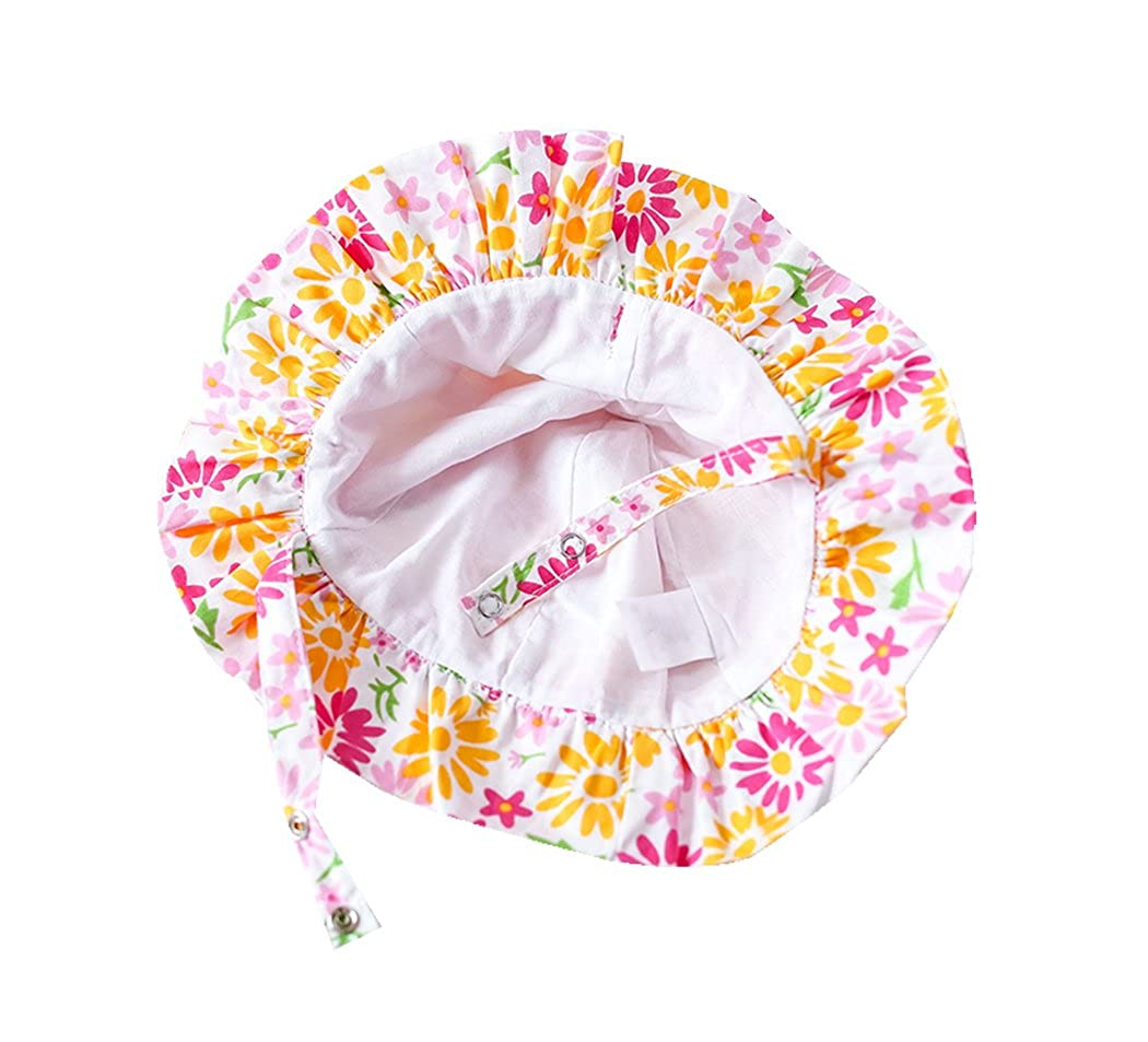 Genda 2Archer Baby Girls Bucket Style Pretty Cute Floral Summer Sun Hat