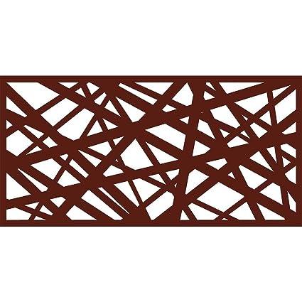 Amazon com : eco Panel Laser Cut Decorative Steel Privacy