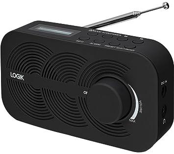Logik Lrbdab14 Portable Digital Dab Radio With Fm Tuner Amazon Co