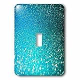 3dRose (lsp_266918_1) Single Toggle Switch (1) Sparkling Beach Blue Luxury Elegant Mermaid Glitter Effect Art Print