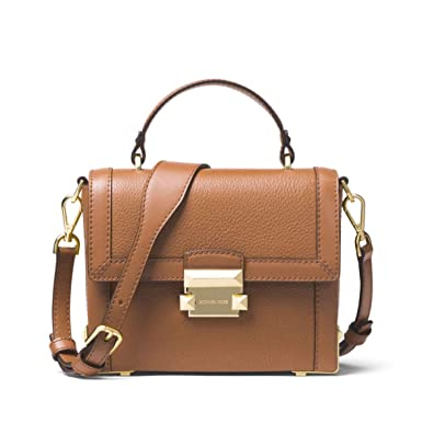 4c62f7163d0 Image Unavailable. Image not available for. Color: MICHAEL Michael Kors  Jayne Small Pebbled Leather Trunk Bag ...