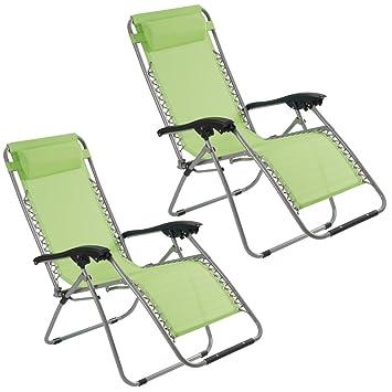 Deck Chair Garden Gear Zero Gravity Chair Recliner Chair with padded Cushion Headrest Folding for Outdoor use Camping Beach Pack of 2, Blue Reclining Sun Lounger