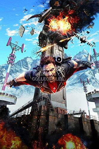 "Price comparison product image PremiumPrintsG - Just Cause 3 PS3 PS4 Xbox 360 One - XEXT060 Premium Canvas 11"" x 17"" (28 cm x 43 cm)"