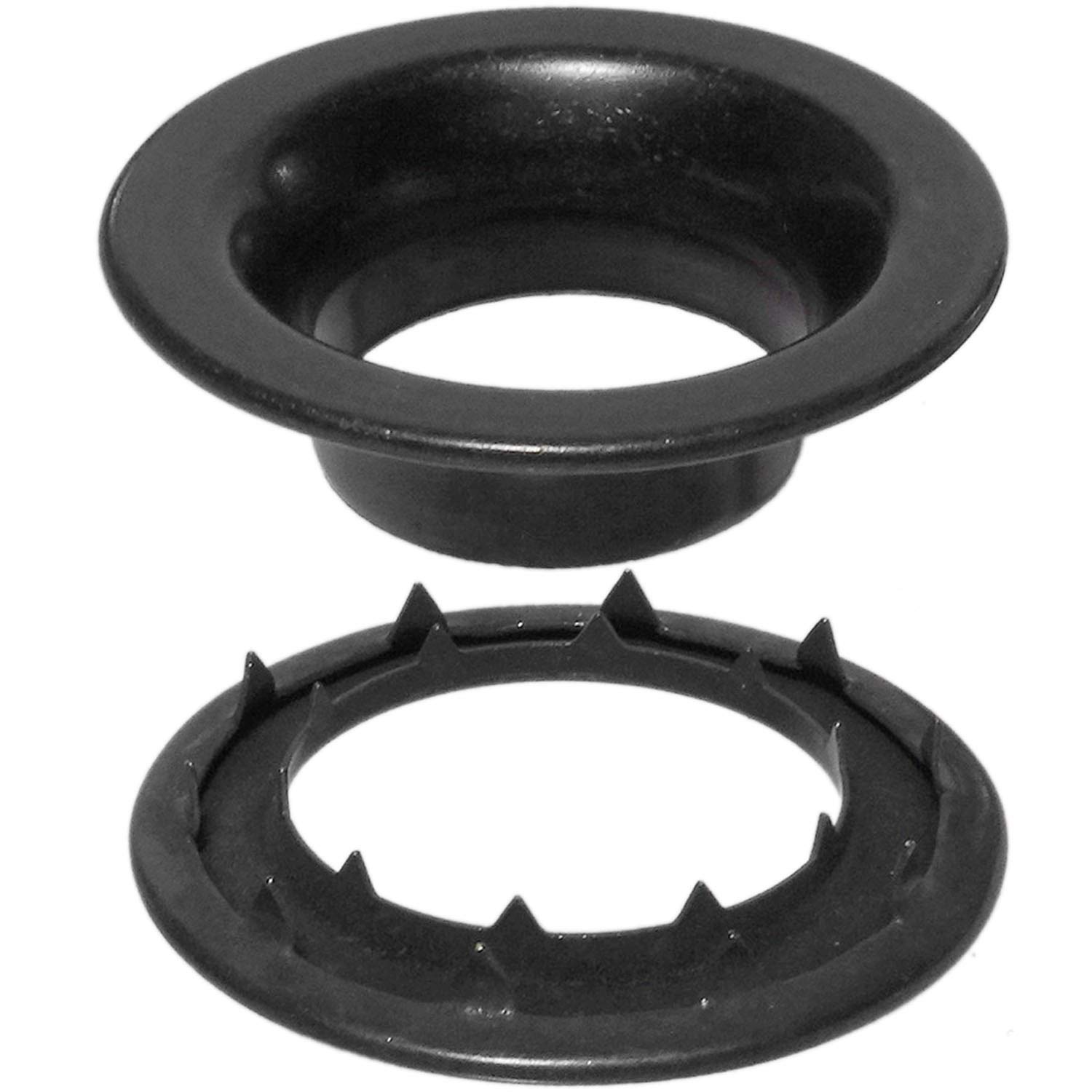 Stimpson Rolled Rim Grommet and Spur Washer Dull Black Chem Durable, Reliable, Heavy-Duty #8 Set (144 Pieces of Each)