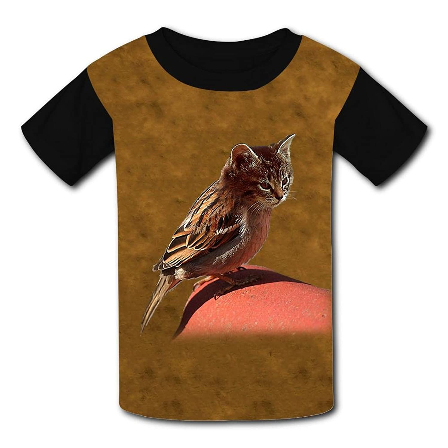 Cat and Bird Light Weight Short Sleeve 2017 The Latest Version for Kidsfree Postage for sale