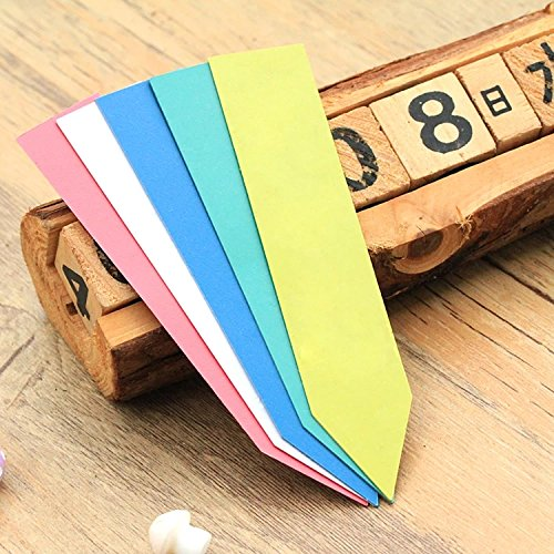 500PCS Plant Labels Plastic Nursery Garden Seed Tags Re-Usable Plant Tags (Mixed Color) by Linfangxi