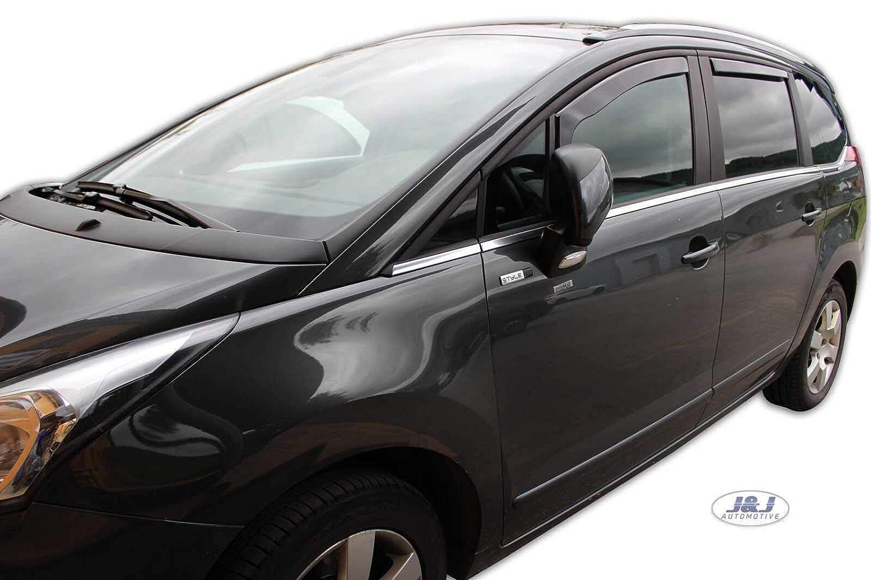 J&J AUTOMOTIVE | Deflecteurs d'air Déflecteurs de Vent Compatible avec Peugeot 5008 5 Portes 2010-2017 4pcs