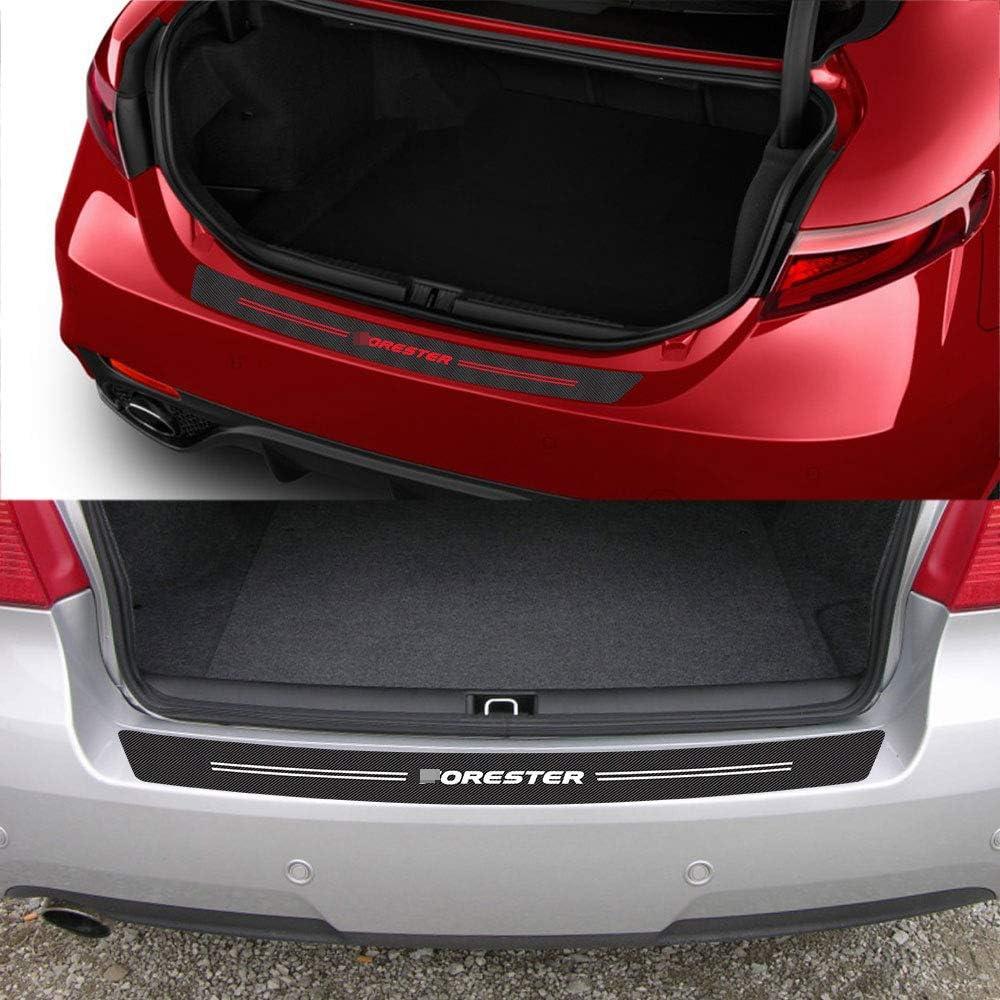 per Subaru Forester Sh SJ Lfldmj ///Adesivi per paraurti Posteriore per Auto Adesivi in Fibra di Carbonio per Auto Decorazione per Guardia del Bagagliaio per Auto Protettiva///
