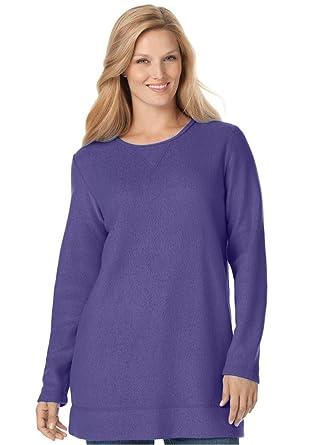 Women's Plus Size Top, Sweatshirt In Cozy, Light Sherpa Fleece at ...