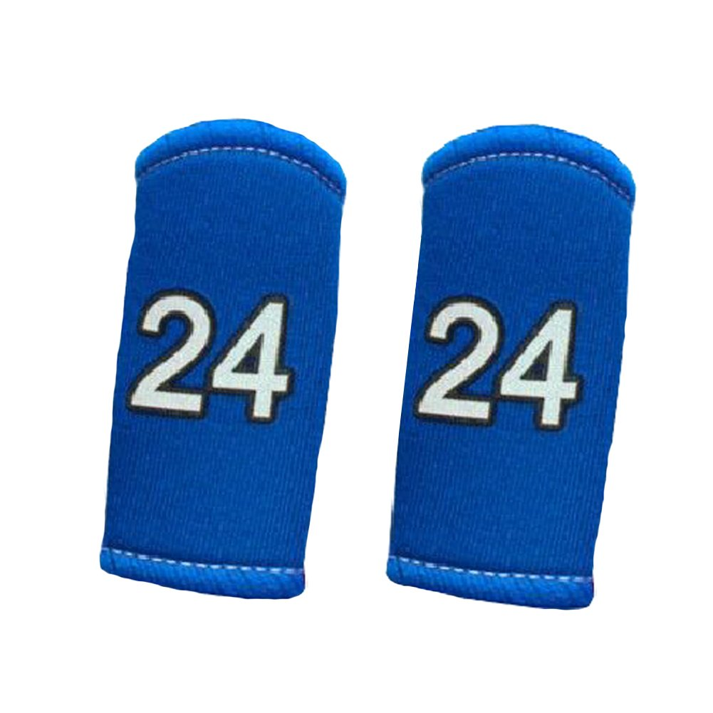 2PCS Premium Finger Sleeve Protector Brace Support for Basketball, KB24, Blue Blancho Bedding