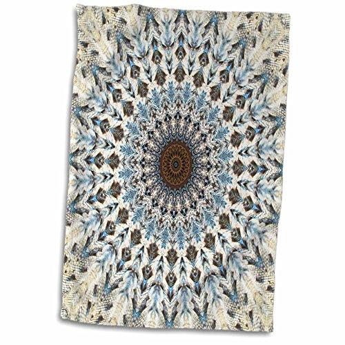3dRose Houk Digital Abstraction Art – Fancy Kaleidoscopes - Liz Mandala - 15x22 Hand Towel (TWL_42129_1) ()