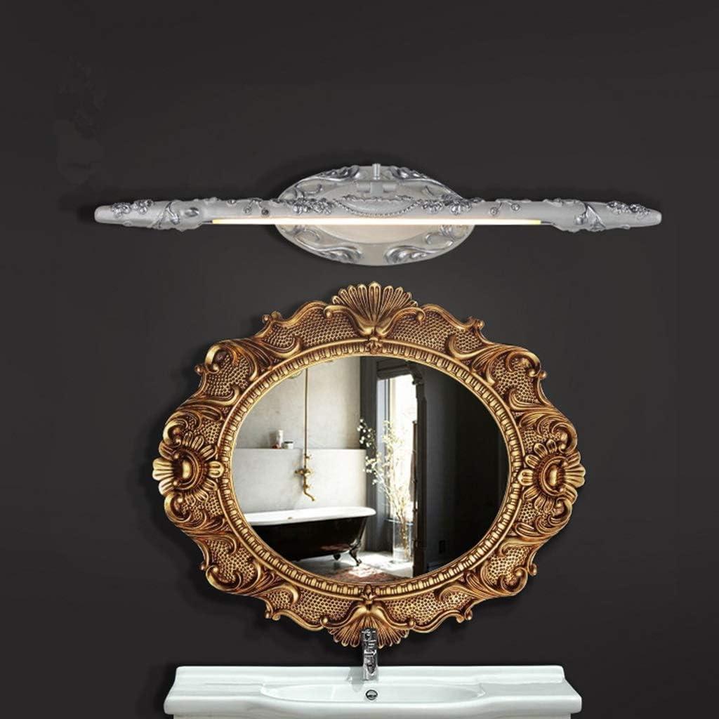 & Spiegellampen Spiegel Frontleuchte Wasserdicht Anti-fog Bad Licht Wandleuchte Europäischen Spiegel Kabinett Licht LED Badezimmerbeleuchtung (Farbe : Warmes licht-66cm) Warmes Licht-66cm