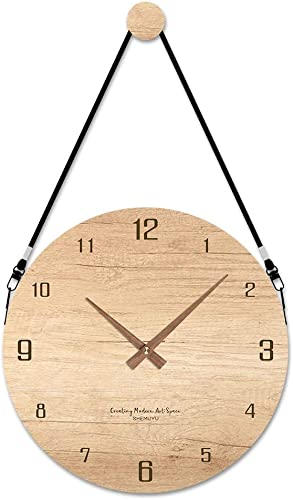 EMIROOM 12 Inch Modern Wall Clock Battery Operated