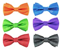 6pc Adjustable Pre-tied Boys Bow Tie Accessory Set (BBT-03) by Zakka Republic