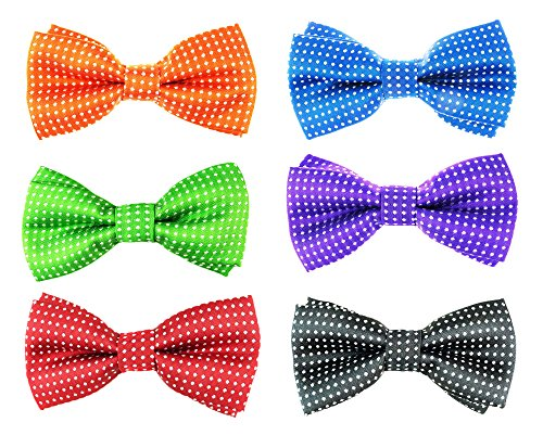 6pc Adjustable Pre-tied Boys Bow Tie Accessory Set (BBT-03) by Zakka Republic (Bow Tie X-long Band)