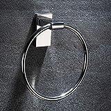 ZHANGY Bathroom Accessories, Towel Ring, Stainless Steel Towel Rack, Bathroom Storage - Hotel Bath Towel Ring