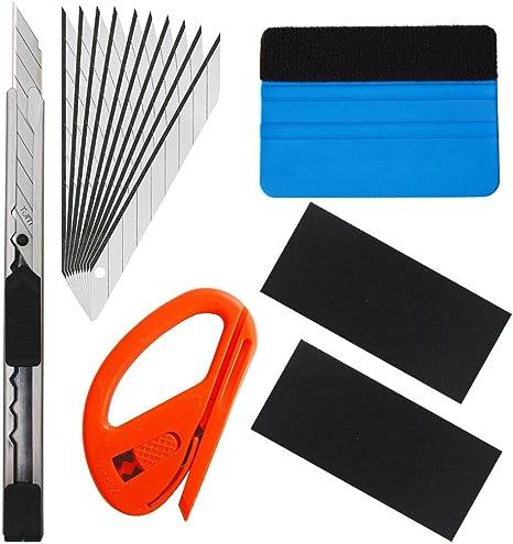 Gebildet 6 In 1 High End Werkzeugset Für Autofolie Tönungsfolie Sonnenschutzfolie Installation Mit Faserrand Rakel Snitty Cutter Utility Messer Baumarkt