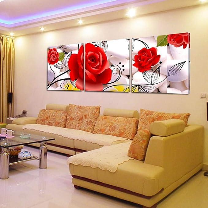Gzhmw Quadri Moderni Quadri Su Tela Canvas Quadri Decorativi Casa Dipinti Su Tela Per Soggiorno Salotto Camera Da Letto Cucina Ufficio Arte Astratto Decorazione Rosa Rossa Amazon It Casa E Cucina