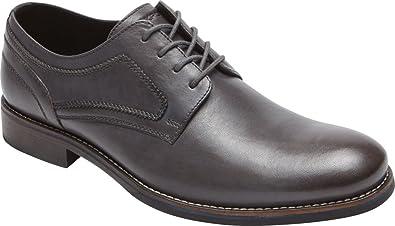 Rockport Men's Wyat Plain Toe Oxford,Dark Shadow Leather,US ...