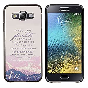 LECELL--Funda protectora / Cubierta / Piel For Samsung Galaxy E5 E500 -- Montaña Fe Dios Jesucristo Biblia --