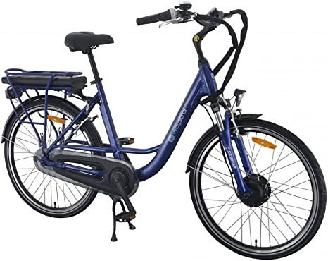 Wayscral City 520 Bicicleta eléctrica (36 V), azul: Amazon.es ...