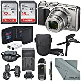 Nikon Coolpix A900 Digital Camera (Silver)+ Total of 48 GB SDHC + Table Tripod + AC/DC Charger + Spare Battery + Case + Wrist Strap along with Deluxe Accessory Bundle