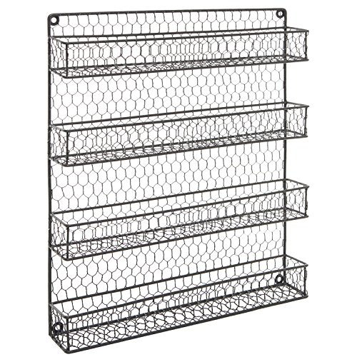 Chicken Wire Kitchen Cabinet Doors: 4 Tier Gray Country Rustic Chicken Wire Pantry, Cabinet Or