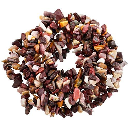 5-8mm Mookaite Jasper Chips Chip Beads Loose Gemstone Beads for Jewelry Making Strand 35 (Jasper Gem Chip)