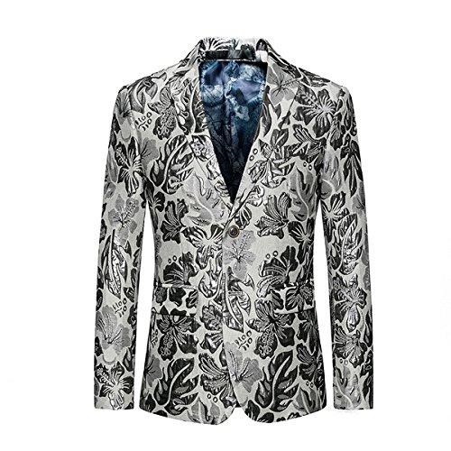 Sndofej lässig wie XL -  Herren weißen Anzug Kleid Geschäft - Sakko,Farbe,2XL