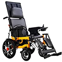 Electric Wheelchair, Foldable Elderly Intelligent Compact Automatic Portable Lightweight Scooter