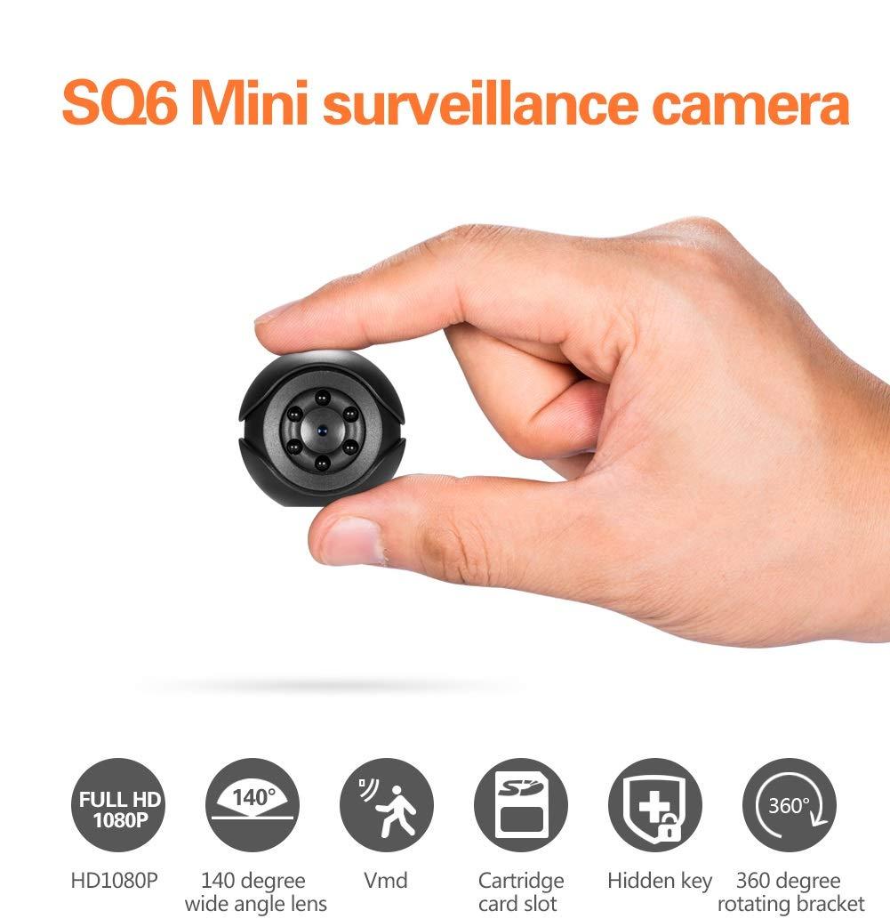 Boomder Tarjeta de Memoria SQ6 cámara de vigilancia pequeña 1080P HD visión Nocturna Deportes al Aire Libre pequeño DV: Amazon.es: Electrónica