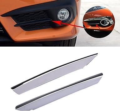 beler 2pcs ABS Chrome Front Fog Light Lamp Cover Trim Decoration