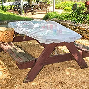 Muzitao Food Covers with Elastic Edging (2 Pack) - Large Picnic Table Covers, Fly Covers for Food, Bug Covers for Picnics