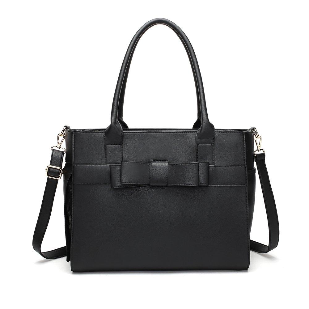 WOpet Fashion Pet Carrier Bag Dog Carrier Purse Dog Handbag Pet Tote Bag for Outdoor Travel Walking Hiking (Black)