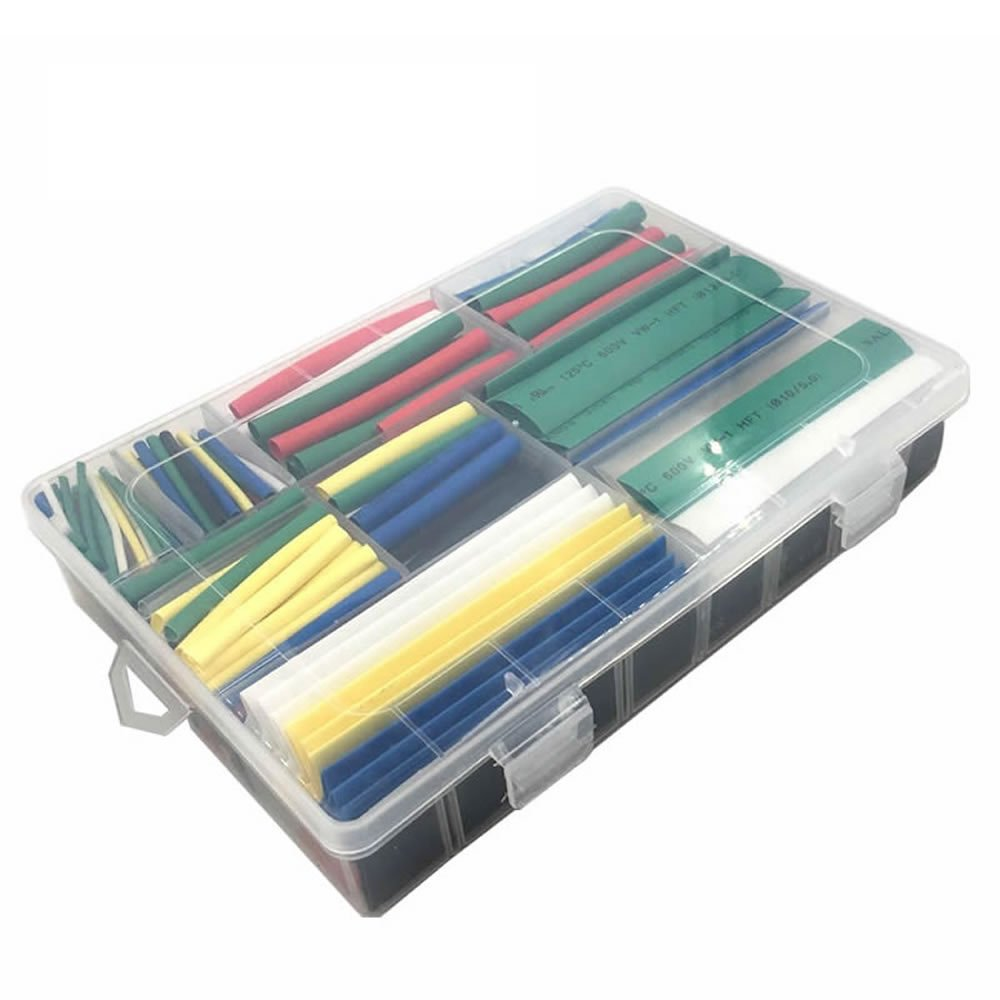 MCIGICM 385pcs 2:1 heat shrink tubing tube 9 Size 7 color polyolefin shrink warp sleeves heat shrink tubing kit by McIgIcM