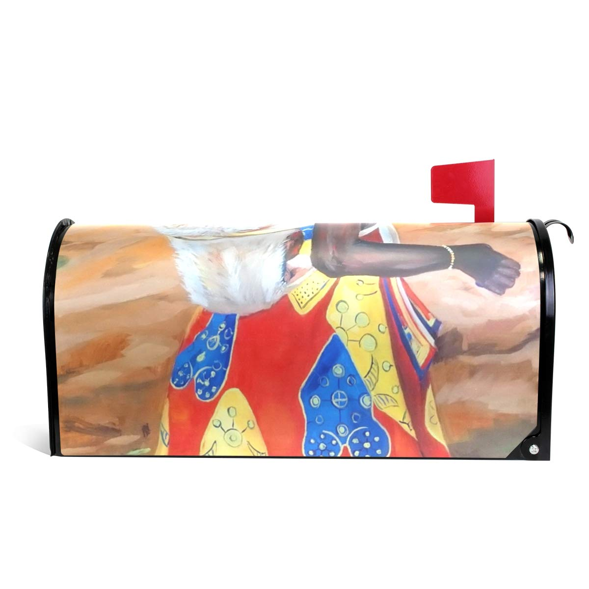 Ladninag Mailbox Covers Magnetic Oil Portrait Art of African American Woman Standard