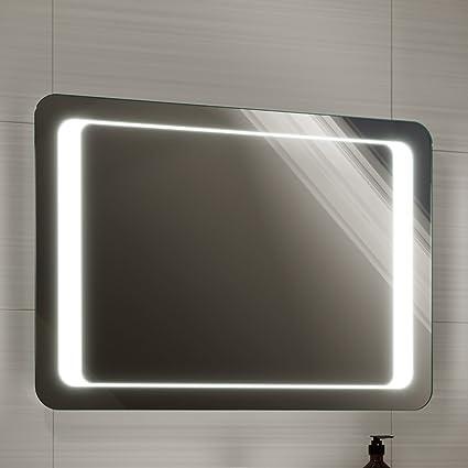700 x 500 mm illuminated led bathroom mirror light with sensor rh amazon co uk