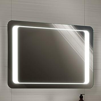 Soak miroir salle de bains éclairage LED avec capteur + dispositif  anti-buée 70 x 50 cm