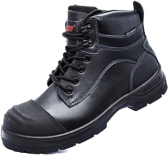 Dxyap Zapatos de Seguridad para Hombre, S3 Botas de Seguridad con Puntera de Compuesta Botas Protectoras Cuero Zapatos de Trabajo Antiestático Resistente al Agua alta Temperatura: Amazon.es: Zapatos y complementos