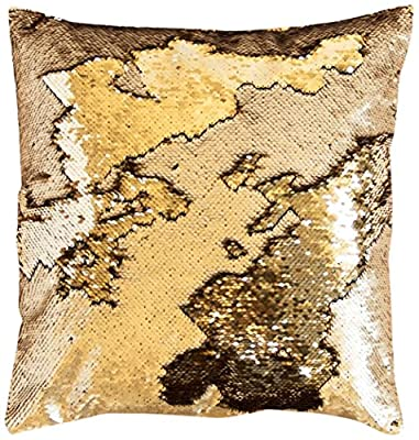 16x16 Mermaid Flip Sequin Pillow