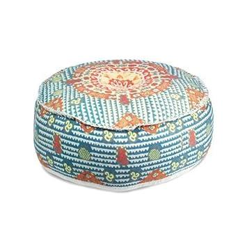 CAPRILO Puff Indio Decorativo de Algodón Colores Claros ...