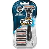 BIC Flex 3 Hybrid Men's Razors 1 handle + 4 refills Pack
