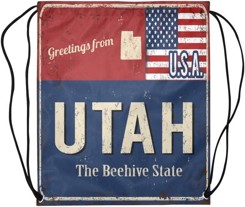 INTERESTPRINT Texas State Flag Lightweight Carry-on Travel Duffel Bag