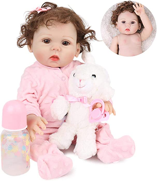 Kaydora Reborn Baby Doll Girl, 16 inch Full Body Silicone, Cute Lifelike Handmade Doll