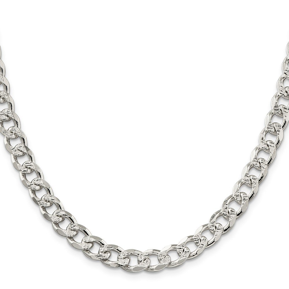 Sterling Silver 8mm Pav? Curb Chain by JOlivers (Image #1)