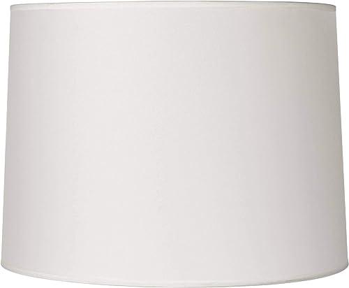 Hardback White Drum Lamp Shade 13x14x10 Spider – Brentwood