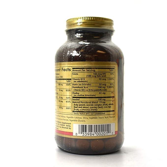 Solgar B Complex con Vitamina C - 250 Cápsulas: Amazon.es: Salud y cuidado personal