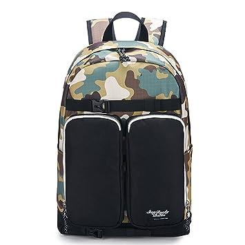 Hombres Mochilas De Camuflaje Ocasionales Daypacks Cool Laptop Bag Canvas Mochila Militar Bolsas De Escuela para El Adolescente Boy Girls: Amazon.es: ...