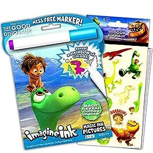 Disney Good Dinosaur Mess-Free Magic Coloring Book and Sticker Pack Set